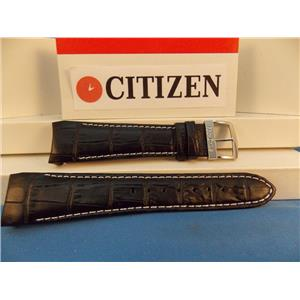 Citizen Watch Band ECO Drive Model AT0550-03E Black Leather Strap