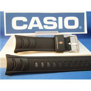 Casio Watch Band PRW-200, PRS-500 Pro Trek Black Rubber Strap