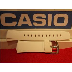 Casio Watch Band BG-90, BGT-200 Baby-G Gloss White Resin Strap Steel buckle