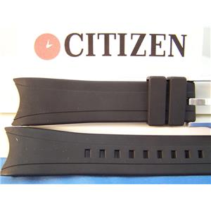 Citizen Watch Band BJ2115 -07E, back# B740-5064023 Blk Resin Eco-Drive Aqualand