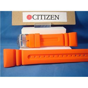 Citizen Watch Band JV0030. Promaster 26mm Orange Resin Watchband / Strap