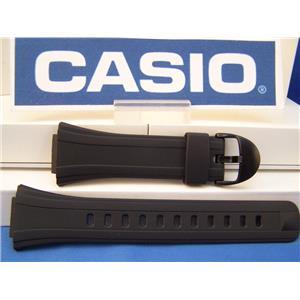 Casio watch band DB-E30 DataBank Black Rubber Strap