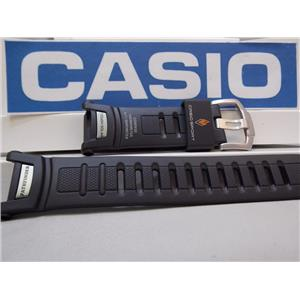 Casio Watch Band PRG-130 / PRW-1500/PAW-1500  Pro Trek Tough Solar Black Rubber
