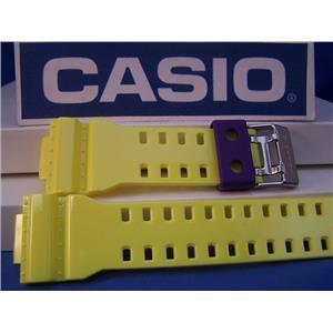Casio Watch Band GA-110 HC-6AV.Glossy Yellow G-Shock.Orig. Two-Piece  Strap Resin