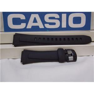 Casio Watch Band W-800 Black Resin Sport Strap