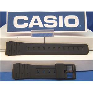 Casio Watch Band W-59, W-85, JC-30, W-64. 18mm Black Rubber Sports Strap