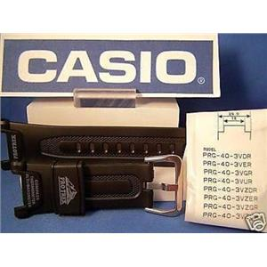 Casio Watch Band PRG-40. Pro Trek Triple Sensor black Rub Strap.Also fits Pag-40
