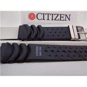 Citizen Watch Band. Hyper Aqualand 20mm Silver Tn Buckle Register Printed Ft
