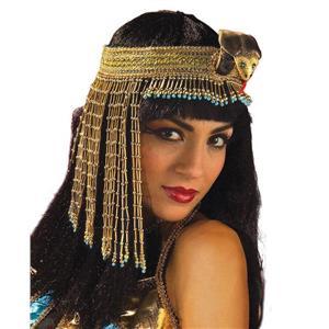 Cleopatra Egyptian Gold Beaded Asp Headpiece