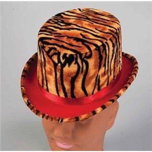 Plush Tiger Animal Print Top Hat Costume Accessory