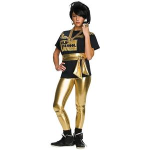 Gold Lame' Shiny Leggings 70's Disco or 80's Old School Costume Accessory