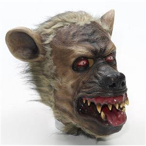Hyena Latex Adult Mask with Hair