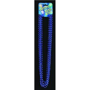 Royal Blue Mardi Gras Party Beads