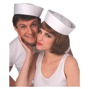White Sailor Popeye Regulation Gob Hat Skipper Navy Navel Accessory Size Large