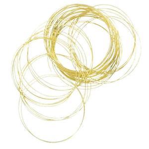 Set of 50 Gold Metal Gypsy Bangle Bracelets