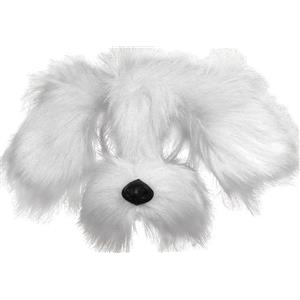 White Puppy Dog Mask on Headband