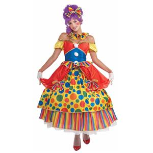 Belle of the Big Top Southern Clown Adult Costume Dress