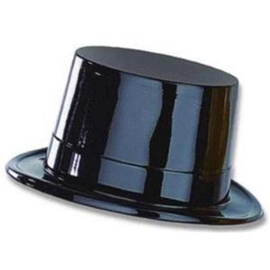 Black Plastic New Years Magician Magic Top Hat LOT OF 12