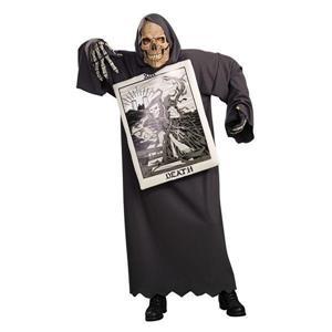 Tarot Card Skull Death Reader Adult Costume 44'' Chest
