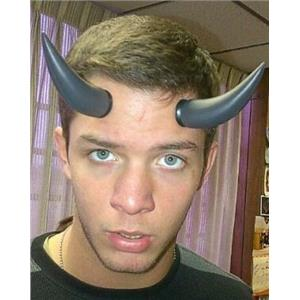 Black Plastic Devil Horns with Suction Cups