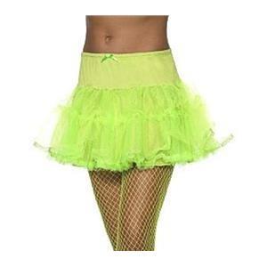 Neon Green Tulle Petticoat Crinoline Underskirt 80's Costume Accessory