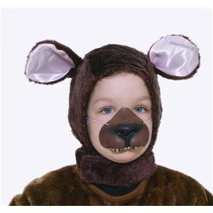 Brown Bear Animal Hood and Nose Child Costume Kit