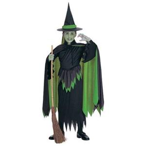 Wizard of Oz: Wicked Witch Child Costume Small (Missing The Green Tie Around the Hat.)