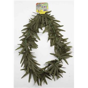 Forum Novelties Hippie Marijuana Pot Leaf Lei Costume Necklace Green Leaf Flower