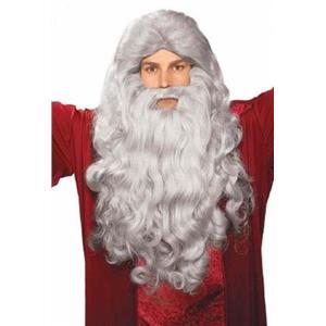 Grey Moses Wig and Beard Biblical Accessory