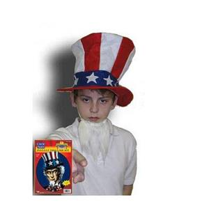 Uncle Sam Instant Disguise Hat and Beard 4th of July Patriotic Costume Kit