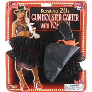 Roaring 20s Gun Holster Garter with Toy Gun Set Costume Accessory