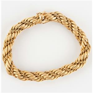 Ladies Vintage 1950's Genuine Tiffany & Co 18k Yellow Gold Twisted Rope Bracelet