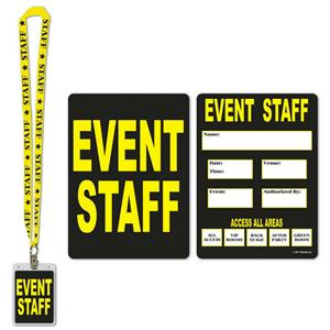 Event Staff Party Pass Lanyard with Card and Card Holder Costume Accessory