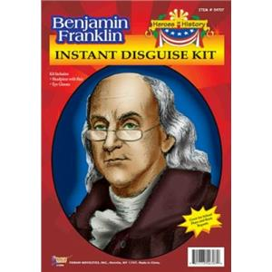 Benjamin Franklin Disguise Costume Accessory Kit
