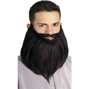 Black 8'' Beard & Mustache Set
