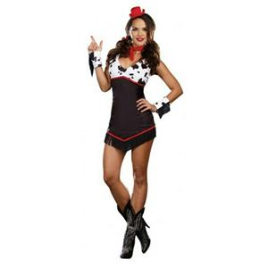 Ridin' Broncos Sexy Cowgirl Adult Costume SMALL