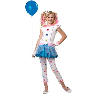 Dotsy Clown Tween Costume Size Large 10-12