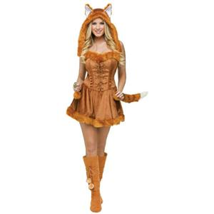 Foxy Lady Sexy Adult Sexy Fox Costume S/M