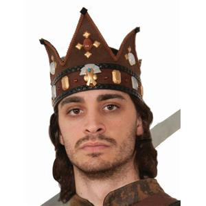 Earth Tone Adult Medieval Fantasy King Costume Crown