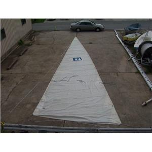 "Boaters Resale Shop of Tx 1309 1727.98 mainsail w 45-6 luff ""ELVSTROM"" Sailmaker"