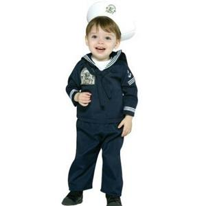 Navy Sailor Military Soldier Uniform Infant Costume 12-24 months
