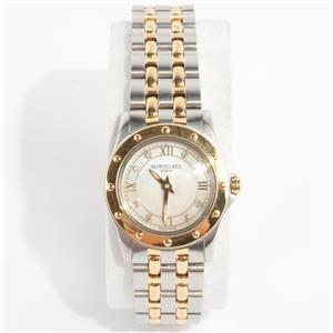 Stainless Steel & 18k Yellow Gold Plated Raymond Weil Watch W/ Diamond Dial
