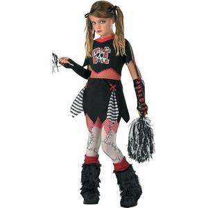 D/Ceptions2: Girls Cheerless Leader Gothic Cheerleader Child Costume Size XL