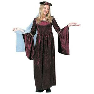 Lady Gwenhyfar Burgundy Child Renaissance Costume Size Medium