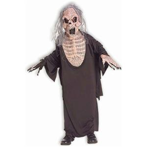 Creeping Death Child Costume Large 12-14 Grim Reaper SCARY Skeleton Zombie