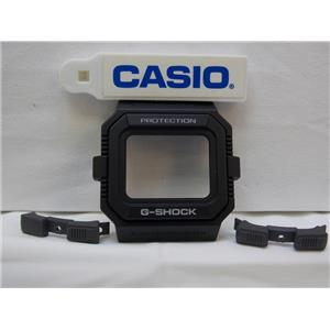 Casio Watch Parts GW-5500 3 piece Bezel black / white Letters. Also fits G-5500