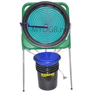 Keene Engineering GW25 Spiral Concentrator Wheel - Gold in Black Sands Cleaning Machine