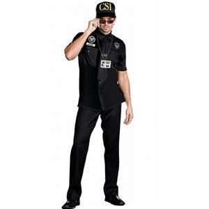 Mens Detective CSI Dick Perfecto Adult Costume Size 2XL 50-52