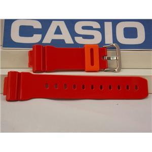 Casio Watch Band DW-6900 CB-4 Red w/Orange Keeper G-Shock Strap Watchband