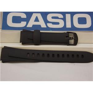 Casio Watch Band W-734 Black Resin Strap Watchband for Lap Memory 60